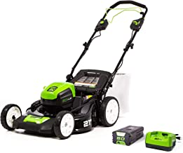 Greenworks Pro 80V 21-Inch Brushless Self-Propelled Lawn Mower, 4.0Ah Battery and Charger..