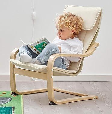 Ikea Poang Children's Armchair, Birch Veneer, Almas Natural
