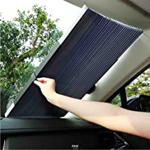 BMDHA Visera del Coche Parabrisas Delantero Automático Telescópico Protector Solar Aislamiento Calor Auto De Protección Solar (65-80Cm),80Cm