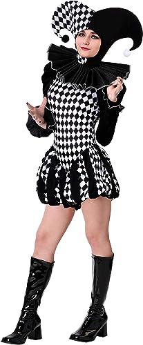 Wohombres Evil Clown Fancy Dress Costume X-Large