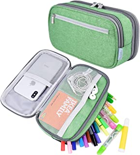 Pencil Cases, Large Capacity Pencil Case Pen Cases Pencil Bag Desk Organizer for School Student Boys Girls and Office, Nav...