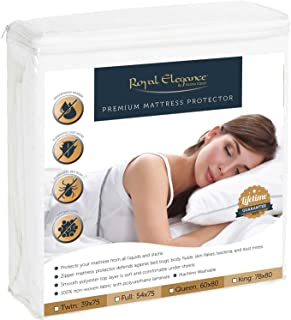Elaine Karen Deluxe Collection Premium Bed Bugs Mattress Protector - Hypoallergenic Protector for Allergen & Bed Bug Pest Control - Queen Size