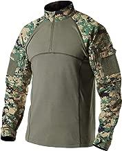 CQR Men's Combat Shirt Tactical 1/4 Zip Assault Military Top Camo EDC