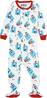 Baby Infant Dr. Seuss Cat in The Hat Footie Pajama Sleeper