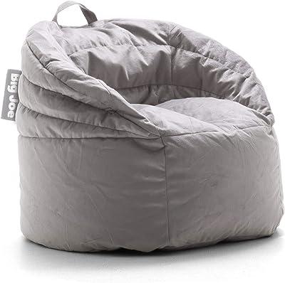 Big Joe Stack Chair, Stone Plush Bean Bag