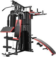 Powertrain Multi Station Home Gym Exercise Equipment with Boxing Punching Bag