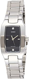 Casio Women's Black Dial Stainless Steel Analog Watch - LTP-1165A-1CDF