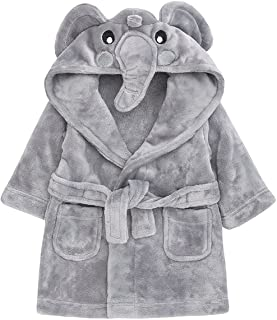 3d105769de29d Childrens / Toddlers Soft Fleece Dressing Gown with Animal Hood ~ 6-24  Months
