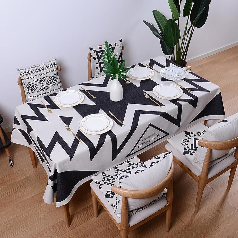 Xiaowu Tischdecke Einfache Moderne Baumwolle Rechteckigen Tee Tischdecke Esstisch Tuch Verdickung Stoff Tischdecke, 005, 110  170cm