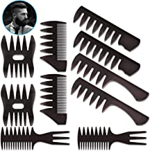 10 Pack Hair Comb Styling Set Barber Hairstylist Accessories,DanziX Professional Shaping Wet Pick Barber Brush Kit Wide Te...