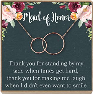 Best maid of honor necklace gift Reviews