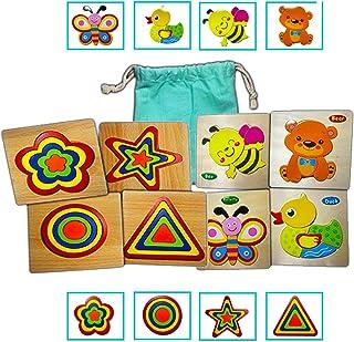 Puzzle Madera Bebes 2 años Juguetes Bebes 1año a 3 años Juguete Montessori, Set Madera Educativo, Juego Regalo rompecabeza...