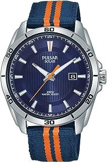 5b9128330 Pulsar Active Mens Analogue Solar Watch with Nylon Bracelet PX3175X1