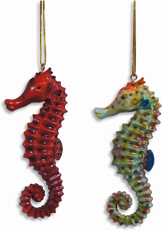 LX Hand Painted Ocean Creature Ornament Seahorse 4