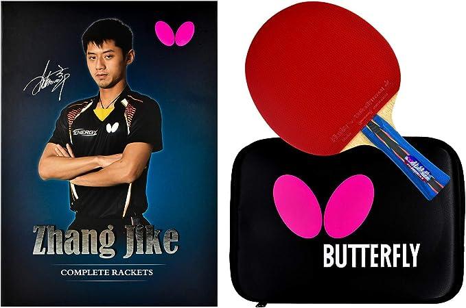 Butterfly Conjunto Zhang Jike Box Raquete de tênis de mesa Shakehand/Série China/Conjunto de raquete e estojo com nome do campeão mundial de 2 vezes/Recomendado para jogadores de nível intermediário
