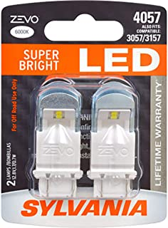SYLVANIA - 4057 ZEVO LED White Bulb - Bright LED Bulb, Ideal for Daytime Running Lights (DRL) and Back-Up/Reverse Lights (Contains 2 Bulbs)