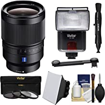 Sony Alpha E-Mount Distagon T FE 35mm f/1.4 ZA Lens with 3 UV/CPL/ND8 Filters + Flash + Soft Box + Lens Pen + Kit for A7, A7R, A7S Mark II, A5100, A6000, A6300