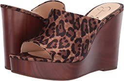 Natural Alicia Leopard Print Satin
