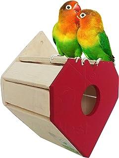PetNest RED Heartshape Love Bird Nest Box and Bird House