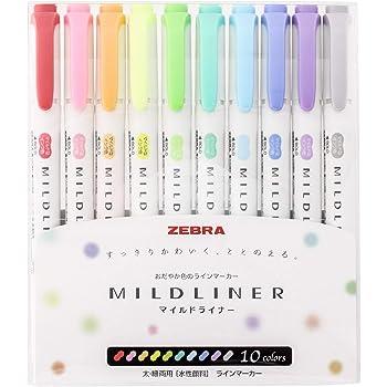 ゼブラ 蛍光ペン マイルドライナー 10色 WKT7-10C