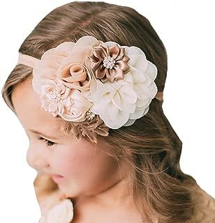 Miugle Baby Girl Flower Headbands Turban Head Wraps Infant Girls Hair Band Headwear, Multicolored, 0-6years