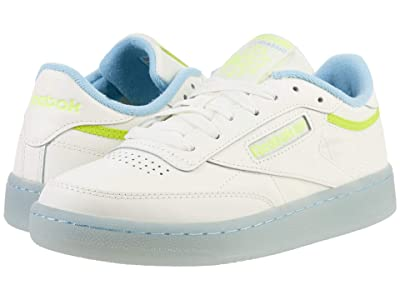 Reebok Lifestyle Club C 85 (Chalk/Fluid Blue/Semi Solar Yellow) Women