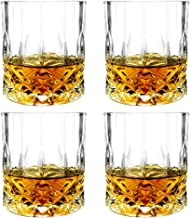 Almagic Whiskey Glass Set of 4 Old Fashioned Glasses for Bourbon, Whiskey, Cocktail Wooden Box Gift for Father Husband (Wi...