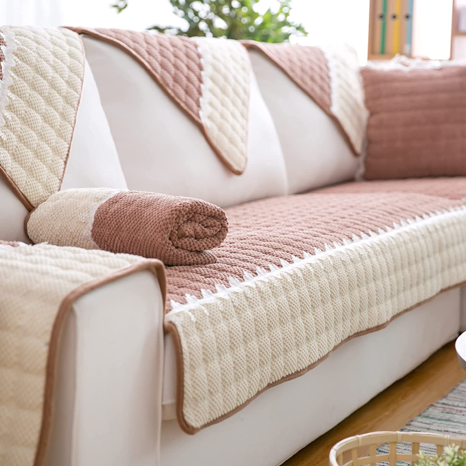 NOMIMAS Stylish Patchwork Directly managed store Sofa Dedication Slipcover C Water Resistant Couch