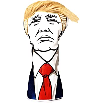 Pins & Aces Keep America Great Premium Golf Club Headcover - Quality Leather, Hand-Made Funny Head Cover - Style and Customize Your Golf Bag - Tour Inspired, Donald Trump Golf Design