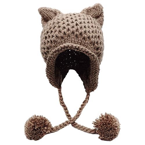 c8c8e3594 Knitted Cat Hat: Amazon.com