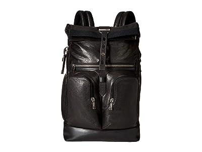 Tumi Alpha Bravo London Roll-Top Backpack (Black 1) Backpack Bags