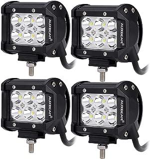 "Auxbeam 4 Pcs 4"" LED Light Bar 18W LED Pods Spot Beam with 6pcs 3W LEDs Chips Driving Light Waterproof LED Bar"