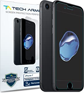 Tech Armor Apple iPhone 7 / iPhone 8 (4.7-inch) Anti-Glare/Fingerprint Film Screen Protector [3-Pack] for Apple iPhone 7/8