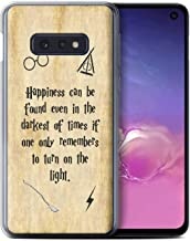Phone Case for Samsung Galaxy S10e School of Magic Film Quotes Happiness/Darkest Times Design Transparent Clear Ultra Soft Flexi Silicone Gel/TPU Bumper Cover