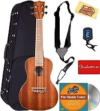 Kala KA-C Mahogany Concert Ukulele Bundle with Hard Case, Clip-On Tuner, Austin Bazaar Instructional DVD, and Polishing Cloth