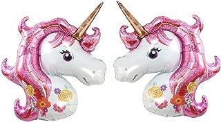 Pink Unicorn Foil Balloon By ZiYan, Set of 2
