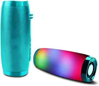 CMDZSW Wireless Bluetooth Speaker LED Portable Boom Box Outdoor Bass Column Subwoffer Sound Box with Mic Support TF FM USB...
