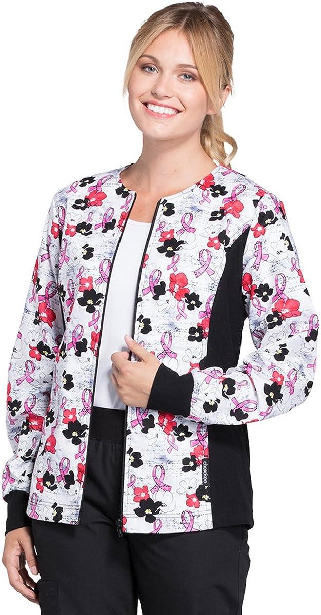 Cherokee Flexibles Women Warm Ranking TOP8 Up Scrubs Jacket Front Zip Financial sales sale Pa Knit