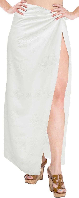 LA LEELA Women's Plus Size Bathing Suit Cover Up Beach Sarong Wrap Full Long A