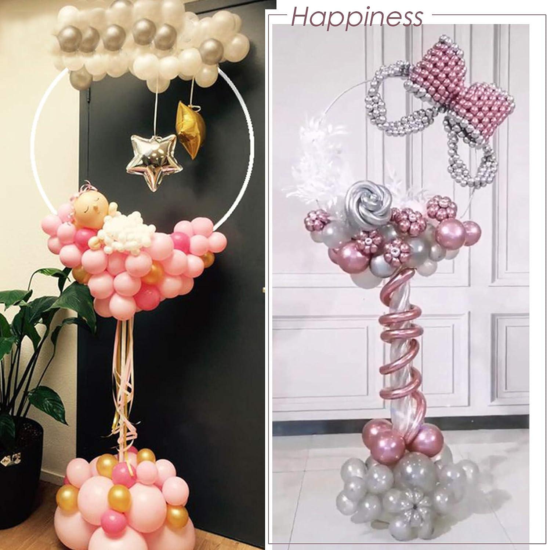 1 x Luftballon Bogen Halter Kreis Luftballons Stand Halterung Ballonstand Ballonhalter Ballonzubeh/ör Dekoration f/ür Geburtstagsparty Hochzeit Party Event