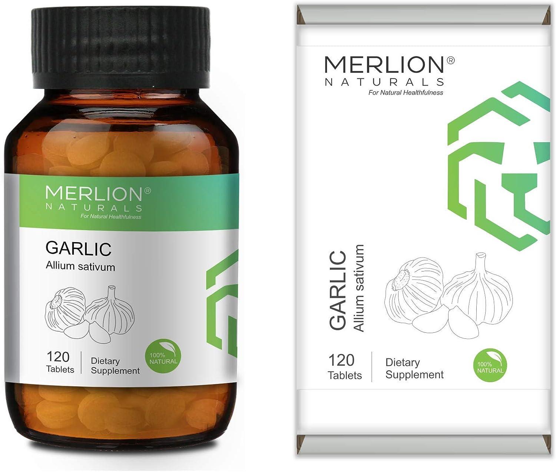 Merlion Naturals Garlic Tablets 5 ☆ very Albuquerque Mall popular Allium sativum Pur All Natural