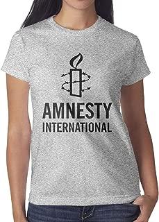Amnesty International Womens Fashion T-Shirt Slim Fit Tops Short Sleeve