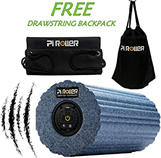 Pi ROLLER Variable 5 Speed Vibrating Foam Roller,High Intensity Vibration for Recovery, Electric Fitness Yoga Rollers, Pliability Training, Deep Tissue Massage for Exercise
