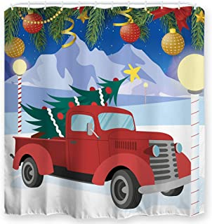 Best vintage christmas shower curtains Reviews
