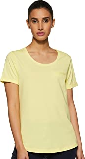 Symbol Women's Solid Plain Loose Fit T-Shirt