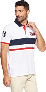 US Polo Assn. Men's ATION Regular Fit T-shirt, White, Large