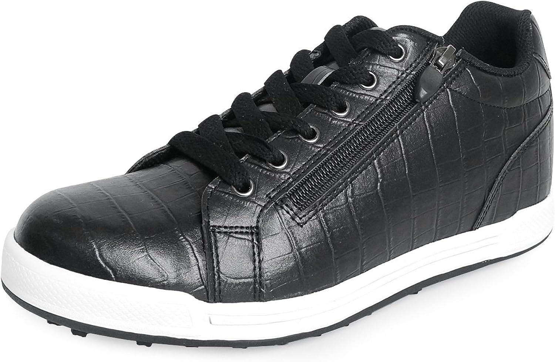 MNX15 Women's Elevator shoes Height Increase 2.4  Luna Black Wedge Sneakers High Heel Sneakers