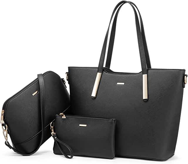Handbags for Women Hobo Shoulder Bags Large Tote Ladies Purse Top Handle Satchel 3pcs Set