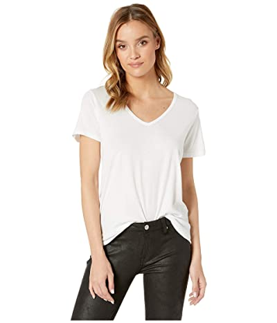 Michael Stars Skyler Ultra Jersey Relaxed V-Neck Tee (White) Women