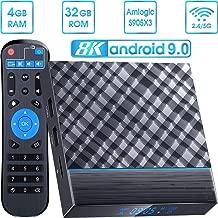 $83 » DOOK T95 MAX Android 9.0 TV Box,Android Box 4GB RAM 32GB ROM TV Box Amlogic S905X3 Quad core cortex-A55 Smart TV Box with 3D 8K HD H.265, Dual-WiFi 2.4G/5G, USB 3.0 Streaming Media Player